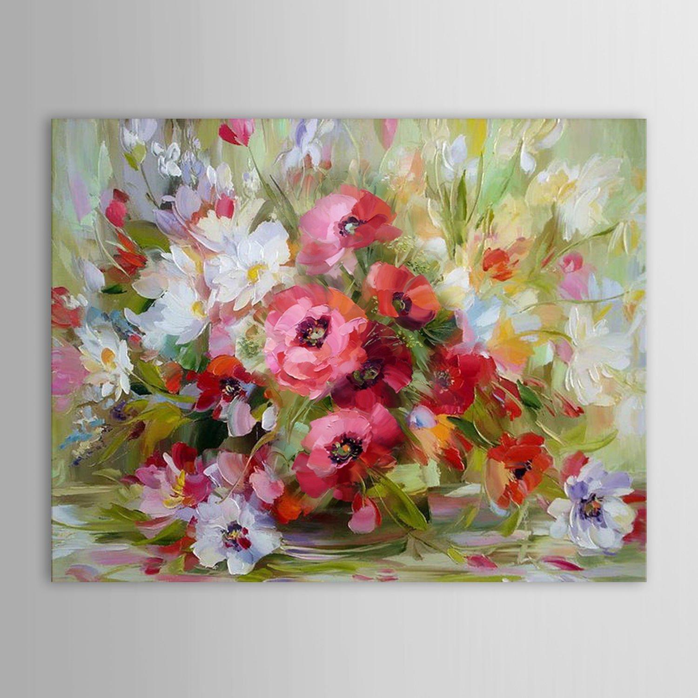 Gy ny r vir g kompoz ci festm ny olajfestm ny for Vasi di fiori dipinti