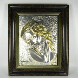 925-str-ezust-jezus-portre-kep-41x35-3-kg-ritka