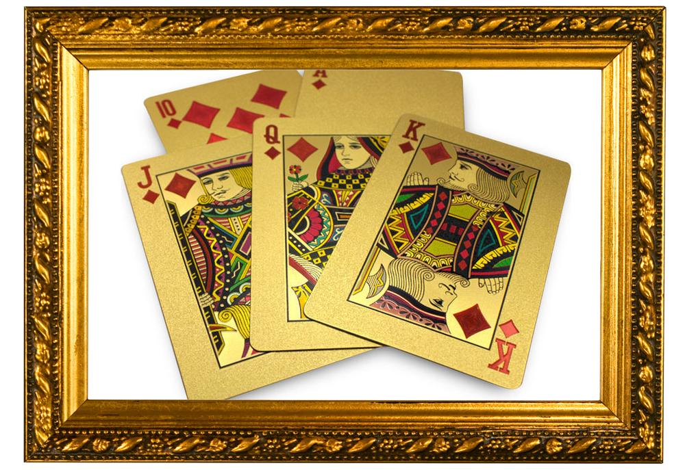 Arany póker kártya és más díszkollekciók