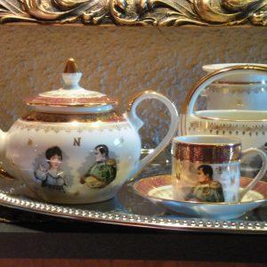 francia-porcelannapoleon-arany-kaves-keszlet15-db
