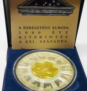 kereszteny-europa-2000-eve-ag-9999-ezust-arany-erem