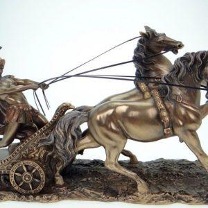 nagy-antik-porcelan-bronz-romai-hajtolovas-szobor