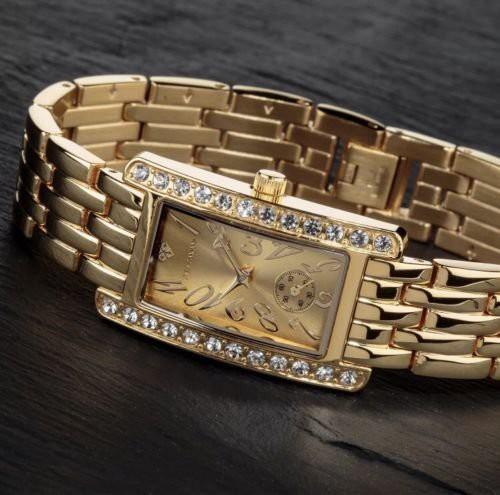 Svájci Új Luxus Női Ékszer Óra, Ritka Gyönyörű Arany Karóra, Ajándék